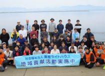 宍道湖の宍道港周辺の清掃活動を実施しました。
